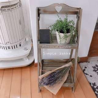 簡單雜貨-zakka鄉村風做舊色置物架 花架