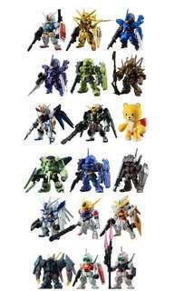 FW Gundam Converge #3,#4,#5 三套連大盒