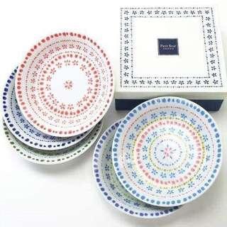 🚚 簡單雜貨-日本製Petit fleur深瓷盤5件組