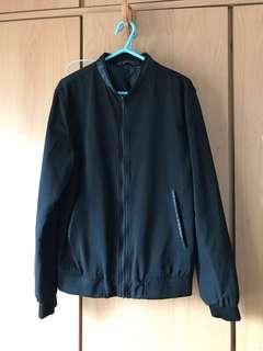 Zara Man Black Bomber Jacket