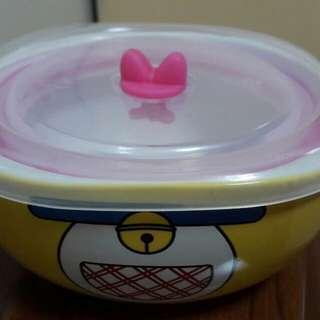 哆啦A夢陶瓷方碗(附蓋)