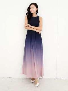 Zara inspired Gradient Long Dress #snapendgame