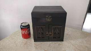 古董 實木 化妝箱 收納箱 Classic Wooden Makeup Cabinet