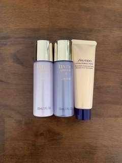 Shiseido cleansing foam+moisturizer+lotion EX30ml