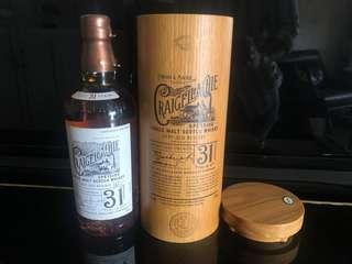 Craigellachie 31 yo whisky not macallan