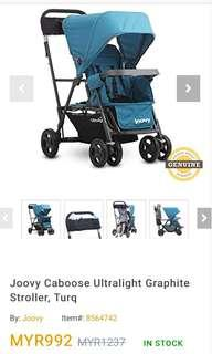Preloved Joovy Ultralight Caboose (double stroller)