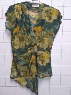 代賣古著紡紗上衣 尺寸13號 雙肩有薄墊