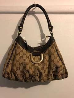 Gucci vintage monogram hand bag (Authentic)