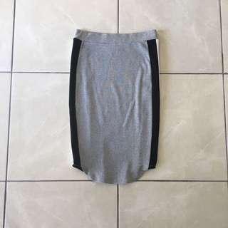 Lindex Grey Midi Pencil Skirt