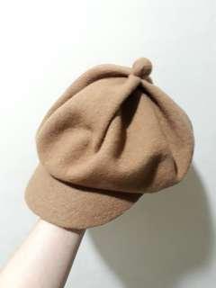 駝色報童帽 (適合頭小)