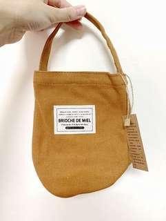 🚚 駝色飲料提袋 水壺袋 帆布袋 環保