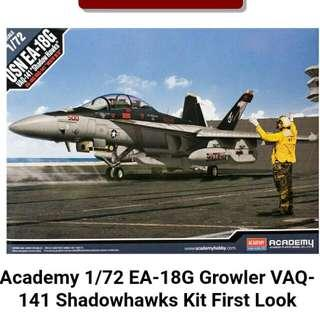 EA-18G GROWLER Academy 72 Scale Model Kit Brand New In Box