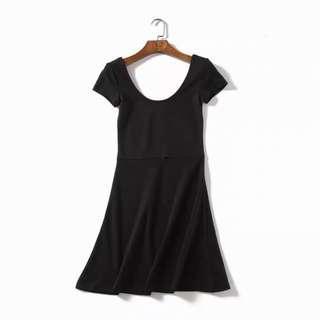 包平郵 黑色連身裙
