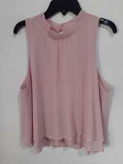Dusty Pink Chiffon Top H&M (Cut Label)