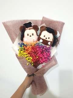 Graduation Mickey & Minnie Rainbow Baby breaths Bouquet #EndGameyourExcess