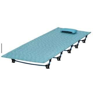 售全新新款孔雀藍二代超輕鋁合金行軍床超輕便攜折疊床睡墊露營輕裝好伙伴 可承重110公斤 (附收納袋)