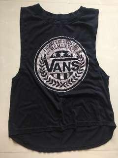 vans high low muscle tank
