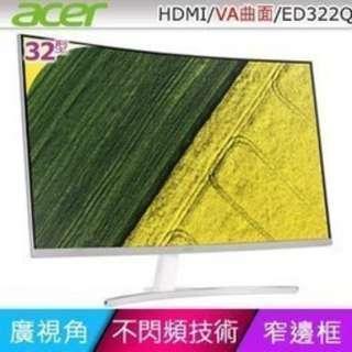ACER ED322Q 32吋VA曲面寬螢幕
