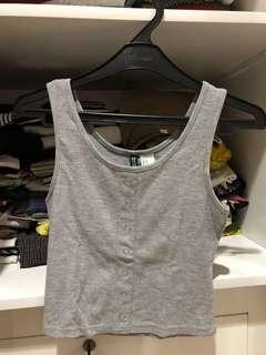 H&M crop top (grey)
