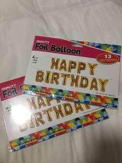 Happy Birthday Foil Balloon SET