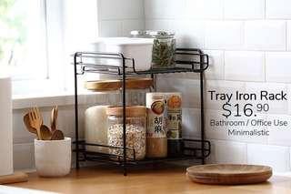 Tray iron rack