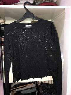 ZARA sparkly top