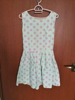 🚚 Slim Fit Pink Polka Dot Dress