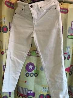 Uniqlo White Jeans