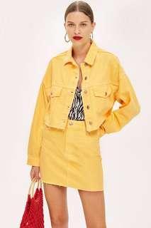 🚚 Topshop Yellow Denim Jacket