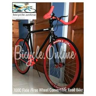 700C Harris Convertible Road Bike ☆ flip flop hub: free wheel / fixie ☆ Dual Brakes ☆ Brand New Bicycle