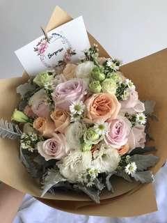 Pastel Dreams | Fresh Flower Bouquet | Roses Eustoma Mini Daisies | Proposal | Anniversary | Birthday | Surprise | Mothers' Day | Valentine's Day | Big Graduation Gift