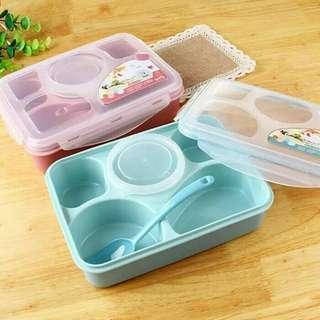 Yooyee lunch box PINK | kotak makan | 5 sekat