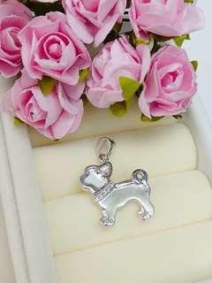 🐕18K白金鑽石可愛小狗吊咀吊墜White gold lovely dog pendant