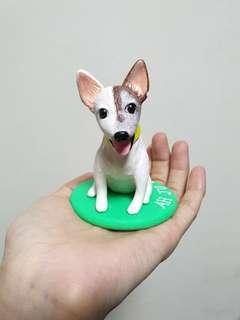 Customise doggie figurine (Jack Russell) made of polymer clay