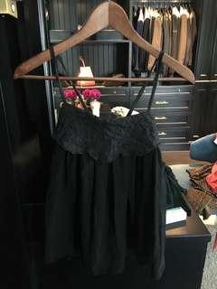 Black silk lacy top
