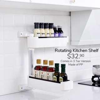 🚚 Rotating kitchen shelf 2 tier