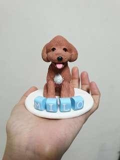 Customise doggie figurine (Poodle) made of polymer clay