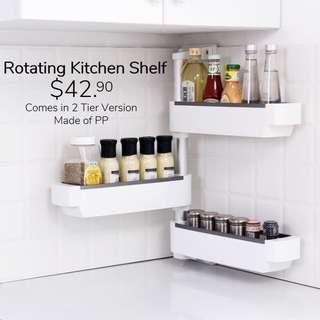 Kitchen rotating shelf 3 tier