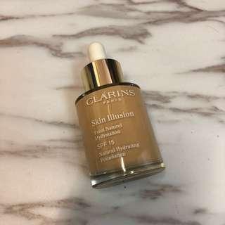 Clarins Skin Illusion Natural Hydrating Foundation 絲滑透薄精華粉底液 SPF 15 #110 Honey