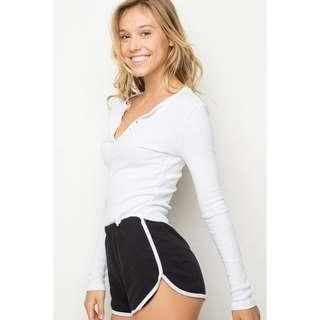 black brandy melville lisette shorts