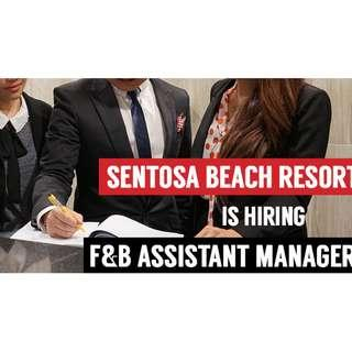 Wanted! F&B Assistant Operations Manager