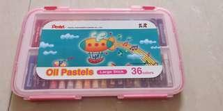 Pentel oil pastels large stick 36 colors