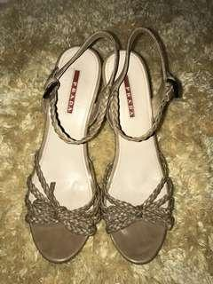 Authentic prada wedge sandal size 39
