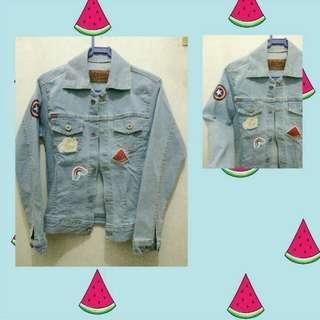 Jaket jeans patch