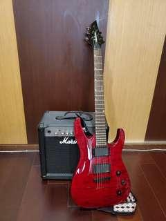 Jackson N931 Electric Guitar with Marshall Amplifier