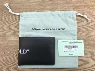 OFF-WHITE BI FOLD Leather Wallet