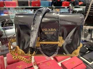 Prada Cahier bag (mini size in black)