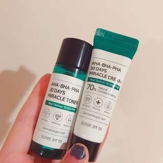 miracle toner and moisturiser kit AHA/BHA