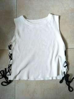 white shoelace top