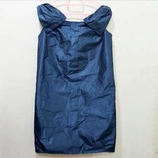 CG5 Dress Plain Ribbon In Blue